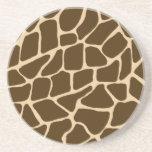 Unique Animal Sandstone Coaster - Giraffe Print