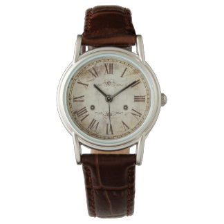 Unique Antique Roman Numeral Vintage Rustic Wristwatches
