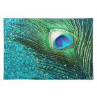 Unique Aqua Peacock Placemat