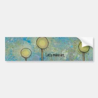 Unique art design fun painting customize your own bumper sticker