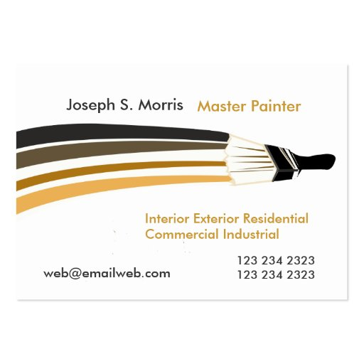 Unique Artist House Painters  Paint Business Card