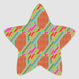 UNIQUE Artistic Graphics: High Energy Color GIFTS Star Sticker