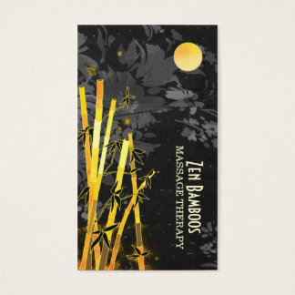 Unique Asian Bamboos Massage Therapy Business Card