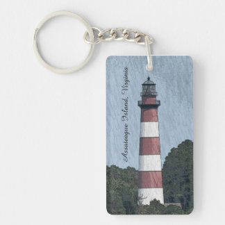 Unique Assateague Island Lighthouse Keychain