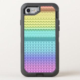 Unique Aztec Nordic Boho Bohemian Tribal Rainbow OtterBox Defender iPhone 8/7 Case