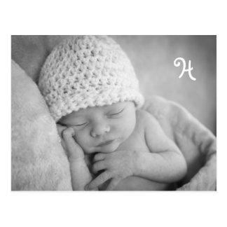 Unique Baby Announcement with photo envelope Postcard