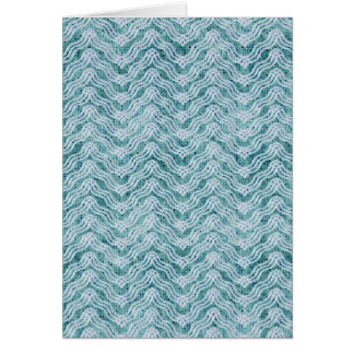 Unique Baby Blue ZigZag Greeting Card