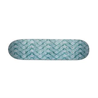 Unique Baby Blue ZigZag Skate Board Deck