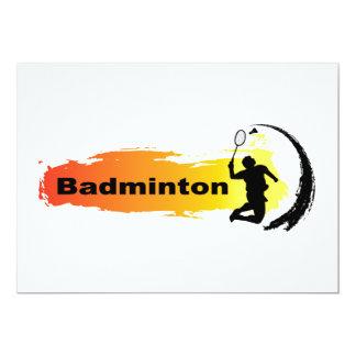 Unique Badminton 13 Cm X 18 Cm Invitation Card
