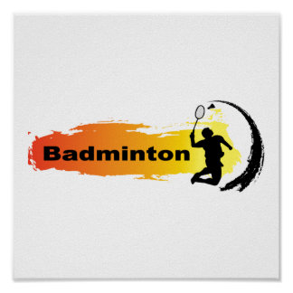 Unique Badminton Poster
