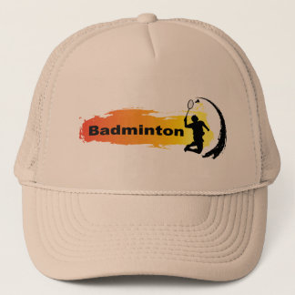 Unique Badminton Trucker Hat