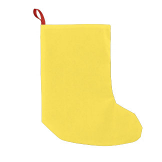Unique Banana Yellow. Simple Solid Plain Color Small Christmas Stocking