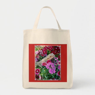 Unique Bearded Dragon Design Grocery Tote