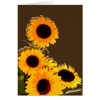 Unique beautiful Sunflower bouquet Greeting Card