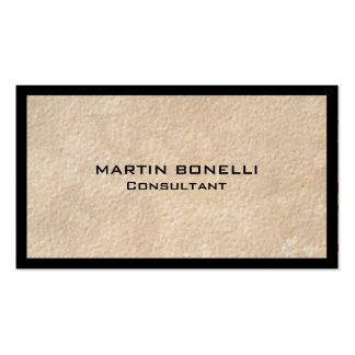 Unique Beige Black Border Special Plain Pack Of Standard Business Cards