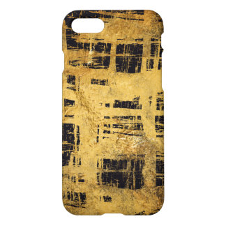 Unique Black and gold grunge Pattern Style iPhone 7 Case