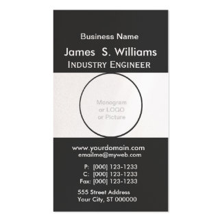 Unique Black and White. Cheap Business Card