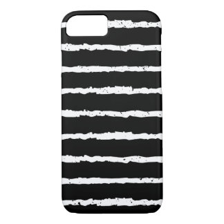 Unique Black and White Grunge Stripes iPhone 7 Case