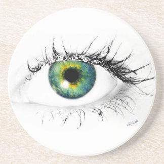 unique blue green eye photo coaster
