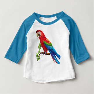 Unique Blue Red Green Yellow and Orange Parrot Tee