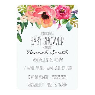 Unique Boho Floral Baby Shower Invitation