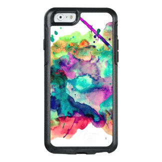 Unique, Bold, Colorful Watercolor Paint Splatters OtterBox iPhone 6/6s Case