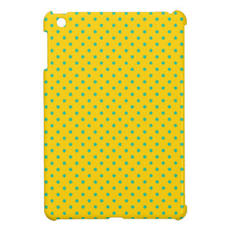 Unique Canary Yellow And Emerald Green Polka Dots iPad Mini Covers