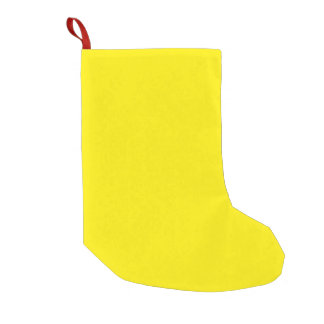 Unique Canary Yellow. Simple Solid Plain Color Small Christmas Stocking