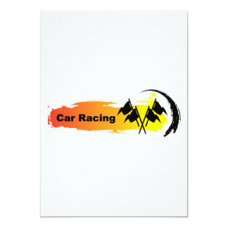 Unique Car Racing Emblem 13 Cm X 18 Cm Invitation Card
