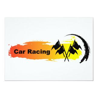 Unique Car Racing Emblem 13 Cm X 18 Cm Invitation Card