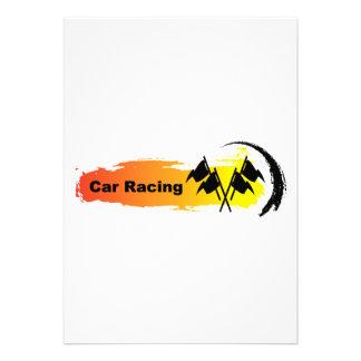 Unique Car Racing Emblem Personalized Invite
