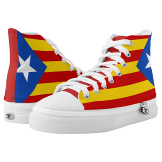 Unique Catalan Pride Flag High Top Sneakers