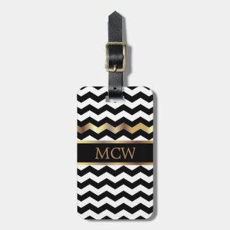 Unique Chevron Pattern | Monogram Luggage Tag