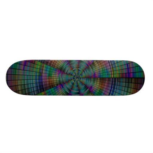 Unique Circle Pattern Skateboard