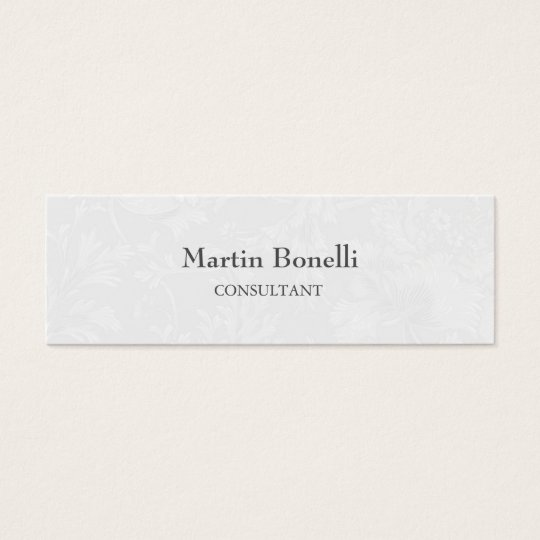 Unique Classical Floral Damask Slim Mini Business Card