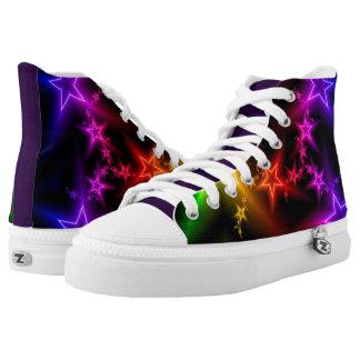 Unique colorful High Top Shoes Printed Shoes