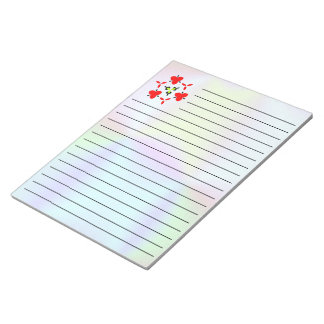 unique colorful pattern notepad