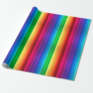 Unique Colorful Seamless Rainbow Stripped Wrapping Paper