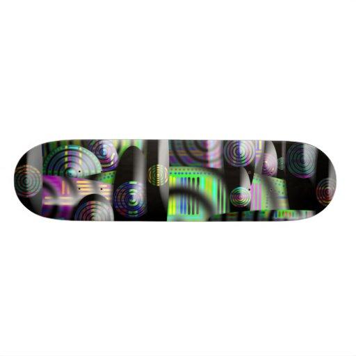Unique colorful skateboard