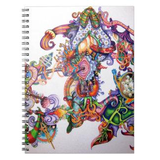UNIQUE COLORFUL TIBET MANDALA ART SPIRAL NOTEBOOKS