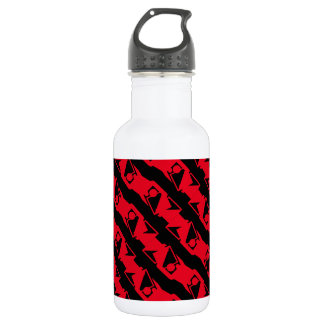 Unique & Cool Black & Bright Red Modern Pattern 532 Ml Water Bottle