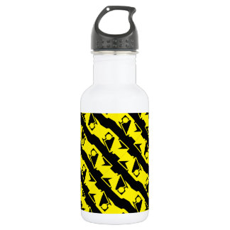 Unique & Cool Black & Bright Yellow Modern Pattern 532 Ml Water Bottle
