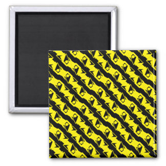 Unique & Cool Black & Bright Yellow Modern Pattern Magnet