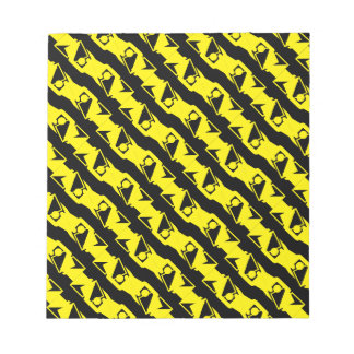 Unique & Cool Black & Bright Yellow Modern Pattern Notepad