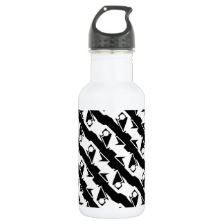 Unique & Cool Black & White Modern Pattern 532 Ml Water Bottle