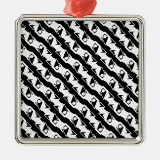 Unique & Cool Black & White Modern Pattern Christmas Ornament