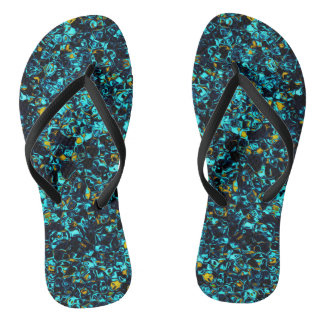 Unique Cool Blue Cyan Chic Flip Flops