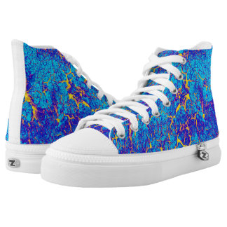 Unique Cool Digital Abstract Art High Tops