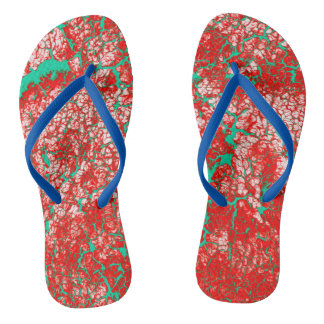 Unique Cool Pink Red Green Funky Flip Flops