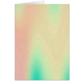 Unique Coral & Turquoise Luxury Decorative Pattern Card